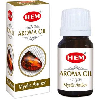 Ambra Ulei aromaterapie, influenteaza pozitiv starea de spirit, 10 ml, HEM aroma oil Mystic Amber