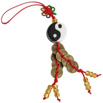 Amuleta Yin Yang si monede norocoase, armonie si protectie de energii negative