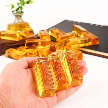 Lingouri aurii set 3 bucati, binecunoscut simbol Feng Shui al bogatei si bunastarii, pentru spor in casa si la locul de munca, sticla cristal k9