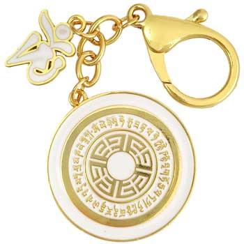 Breloc Om Dakini, amuleta feng shui 2021 de intarire spirituala si indeplinirea dorintelor, metal, auriu