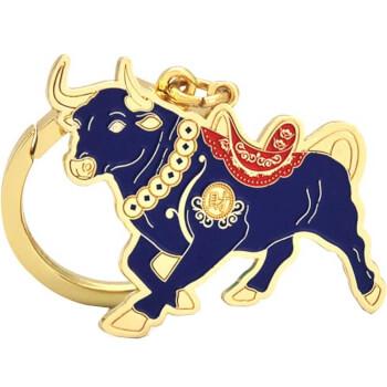 Breloc Bivol, remediu feng shui 2021 pentru bunastare si prosperitate, metal, multicolor
