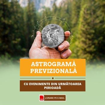 Astrograma pe 12 luni, harta natala a datei nasterii detaliata pe fiecare luna, interpretata si redata de astrolog in format audio, cca 40 min