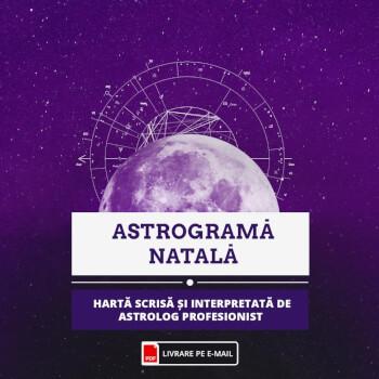 Astrograma natala personalizata, interpretata de astrolog profesionist, format audio, cca 45 min, livrare E-mail