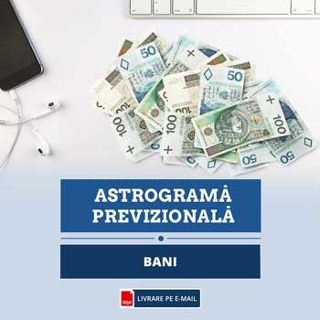 Astrograma plan financiar pentru 12 luni din urmatoarea perioada cu previziuni detaliate pentru situatia cu banii, format audio 40 minute