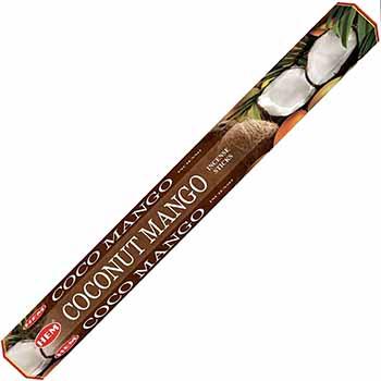 Betisoare parfumate Cocos Mango HEM profesional, pentru eliminarea stresului si crearea de pace interioara