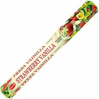 Betisoare parfumate Vanilie si Capsuni gama HEM profesional, pentru purificarea spatiilor, aroma dulce si fructata