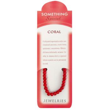 Set bratara coral, felicitare personalizata