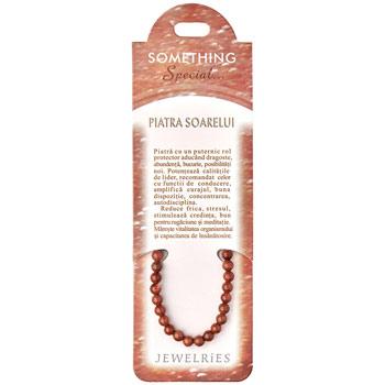 Set bratara Piatra soarelui cu felicitare personalizata, talisman de dragoste si protectie, pietre semipretioase rotunde