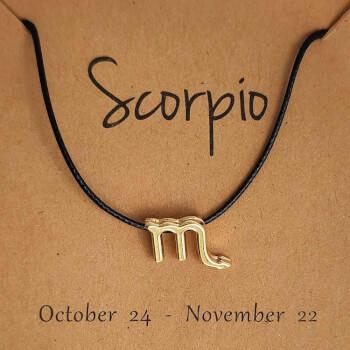 Scorpion, bratari cu snur si zodii, semn zodiacal apa, reglabil negru