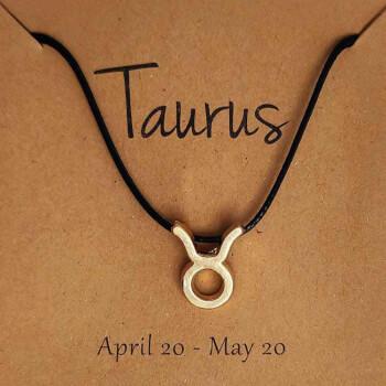Bratari cu snur si zodii, semn zodiacal Taur, reglabil negru