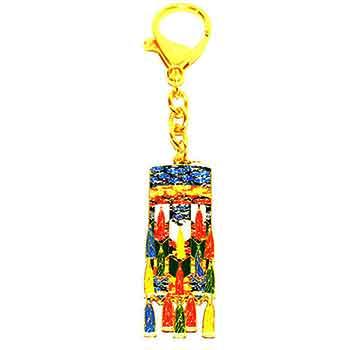 Amuleta reusite breloc cu bannerul Victoriei cu cele cinci elemente, ideala pentru a atrage succesul pe toate planurile, multicolora