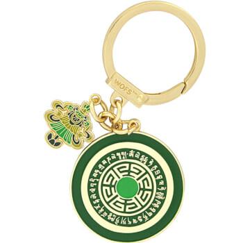 Breloc Steagul Victoriei, amuleta Feng Shui 2021 pentru succes si reusita planurilor, metal, verde