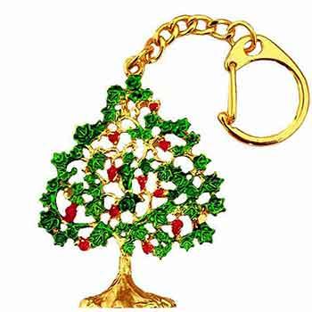 Amuleta prosperitate breloc copacul dorintelor mare, metal calitate, 115 mm