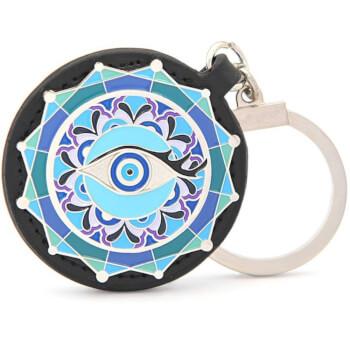 Breloc ochiul anti geloziei, amuleta Feng Shui 2021 de protectie a relatiilor impotriva invidiei si tradarilor, multicolor