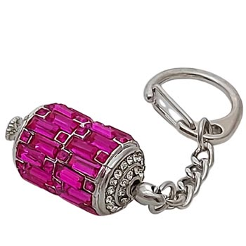 Amuleta indepartare obstacole si dorinte implinite, breloc cu roata rugaciunilor si mantre, culoare roz, 95 mm