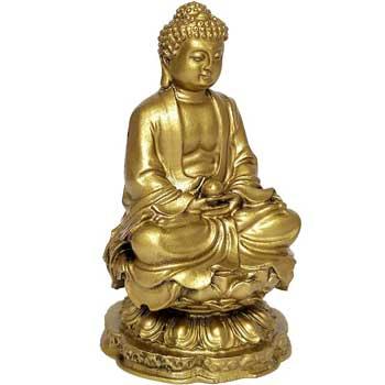 Buddha medicinei statueta, obiect feng shui protectie de boli fizice si emotionale, auriu, 10 cm