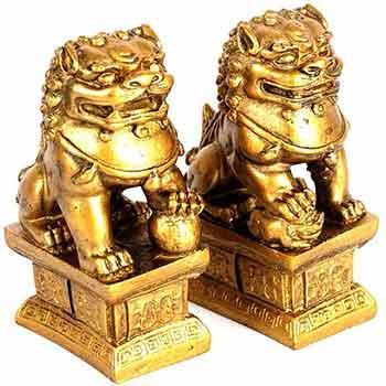 Caini Fu Feng Shui, protectia casei, curtii si gradinii, obiect de protectie de furturi, dezastre, remediu impotriva enegiei negative