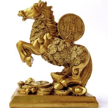 Cal cu moneda norocoasa, amuleta feng shui pentru reusite si bani, auriu