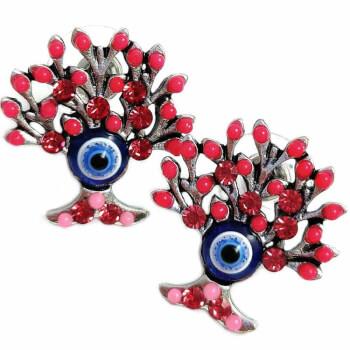 Cercei, copacul vietii si ochiul lui Horus, simbol al inteligentei si al dezvoltarii personale, rosii