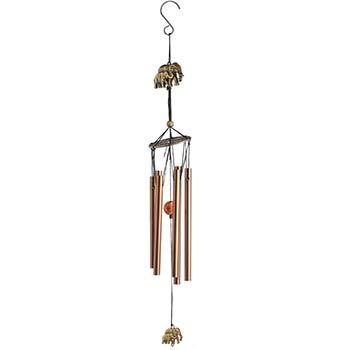 Clopotei de vant cu elefant si 6 tuburi sonore, decoratiune pentru casa sau gradina, amuleta norocoasa zodiacool