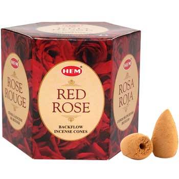 Conuri backflow parfumate iasomie, HEM profesional Jasmine aromaterapie, 40 buc.