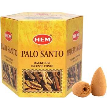 Conuri backflow Palo Santo, HEM profesional, 40 buc. parfumate, aromaterapie