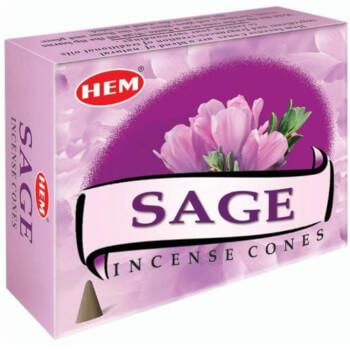 Conuri parfumate salvie roz, Hem profesional, puternic purificator, antioxidant si antiinflamator, 10 conuri aromaterapie, suport metalic inclus