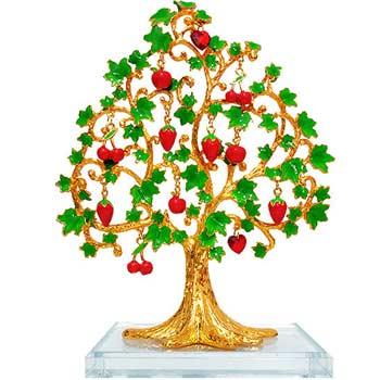 Copacul dorintelor, copacei feng shui pentru dragoste si prosperitate, metal si sticla rubinie