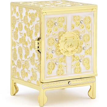 Cufarul alb al bogatiei cu pietrele dorintelor, obiecte Feng Shui pentru prosperitatea familiei si stabilitate, metal