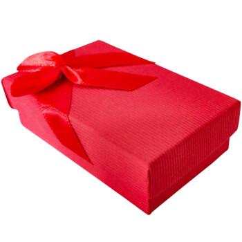 Cutie cadou pentru bijuterii, dreptunghiulara, cu fundita, rosie