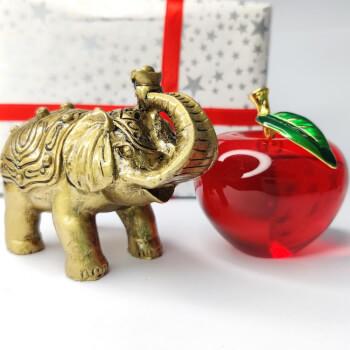 Cadou Elefant cu trompa in sus si Mar rosu din sticla de cristal, set simboluri de armonie si noroc, minifelicitare