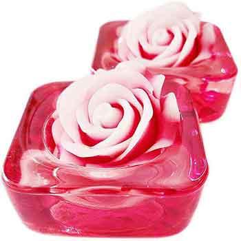 Floarea dragostei feng shui cu suporturi (set 2 bucati) – remediu pentru dragoste