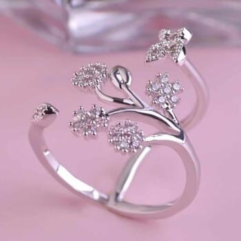 Inel cu fluturi, simbol al relatiilor, aliaj de zinc, reglabil