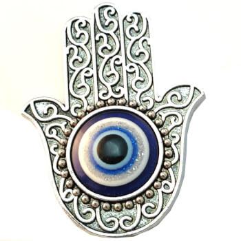 Magnet ochiul lui Horus si mana Fatimei, talisman de protectie impotriva deochiului si energiilor negative
