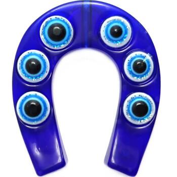 Magnet in forma de potcoava si ochiul lui horus, simbol al nororcului si al inteligentei