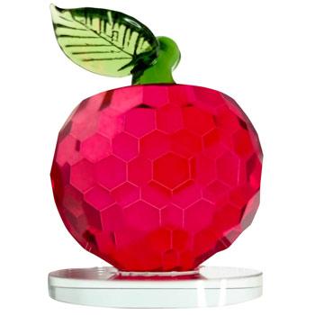 Mar cristal, liniste si blocarea ostilitatilor, obiect Feng Shui mar rosu din sticla pentru armonie