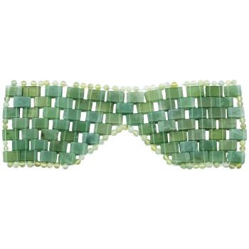 Masca de fata din jad, pentru relaxare si infrumusetare facial, 112 pietre dreptunghiulare