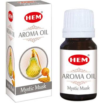 Mosc Ulei aromaterapie, proprietati afrodisiace si antiinflamatorii, 10 ml, HEM aroma oil Mystic Musk