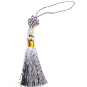 Nod mistic argintiu, amuleta de protectie si iubire, 13 cm