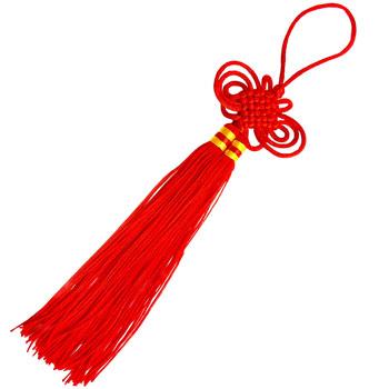 Nod mistic mare 24 cm, amuleta de protectie contra ghinioane, rosu