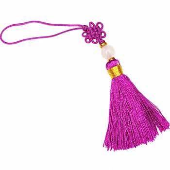 Nod mistic violet, de dimensiuni mici, amuleta de protectie si noroc