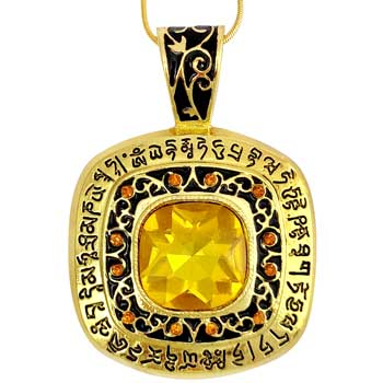 Piatra indeplinire dorinte, amuleta feng shui cu mantre de prosperitate si noroc de resurse, colier elegant