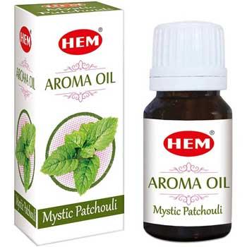 Patchouli Ulei aromaterapie, pentru alungarea depresiilor, stimularea activitatii intelectuale si afrodisiac, 10 ml, HEM aroma oil Mystic Patchouli
