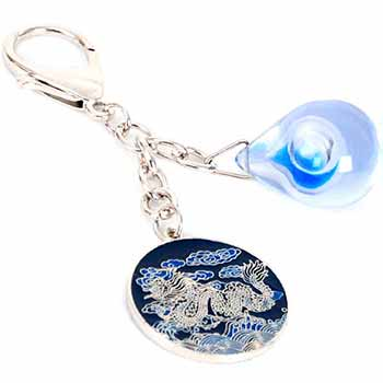 Amuleta bani picatura de apa si dragon, breloc feng shui pentru promovare in cariera si buna reputatie