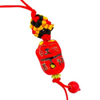 Pisica norocoasa Maneki Neko rosie, amuleta feng shui pentru a atrage mai multi clienti si mai multi bani