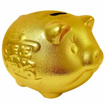 Pusculita porc pentru bani, obiect feng shui pentru creșterea veniturilor