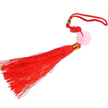 Rate mandarine cuart roz si nod mistic, amuleta pentru dragoste, fidelitate, relatii armonioase si protectie cuplu, 25 cm