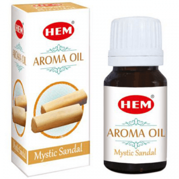 Sandal Ulei aromaterapie, pentru stari pozitive, relaxare, stres, anxietate, 10 ml, HEM aroma oil Mystic Sandal