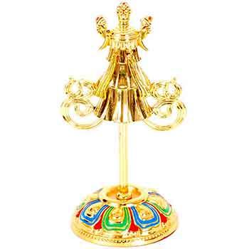 Steagul victoriei djava, simbolizeaza triumful asupra obstacolelor si tuturor fortelor raufacatoare si daunatoare, decoratiune metal