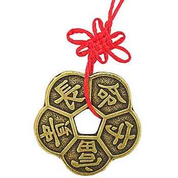 Moneda Floare de Prun, amulete de dragoste cu ideograme pentru o viata cu impliniri si consolidarea relatiei de dragoste